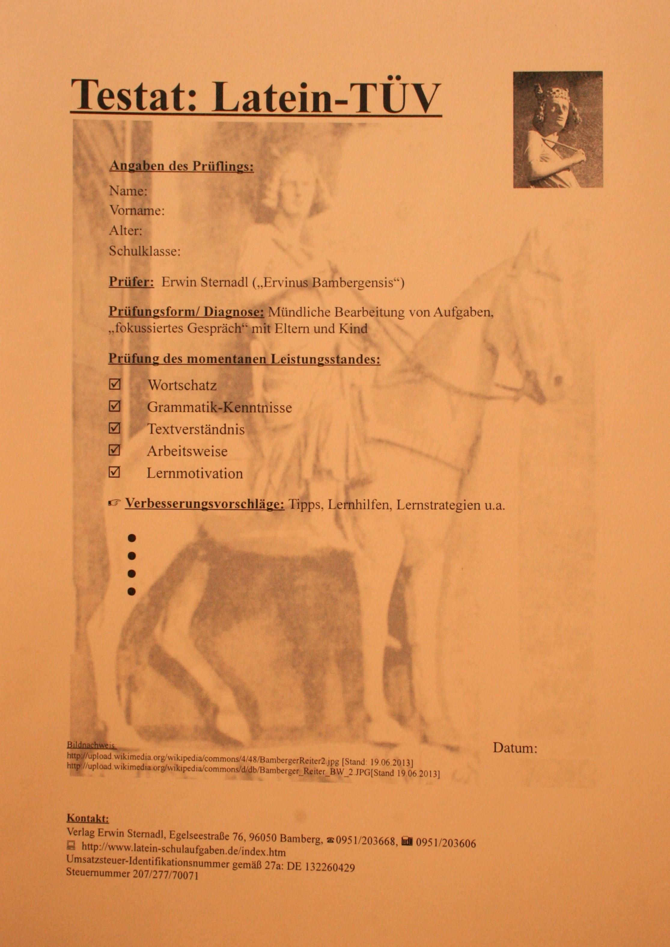 Latein_TÜV_Zertifikat